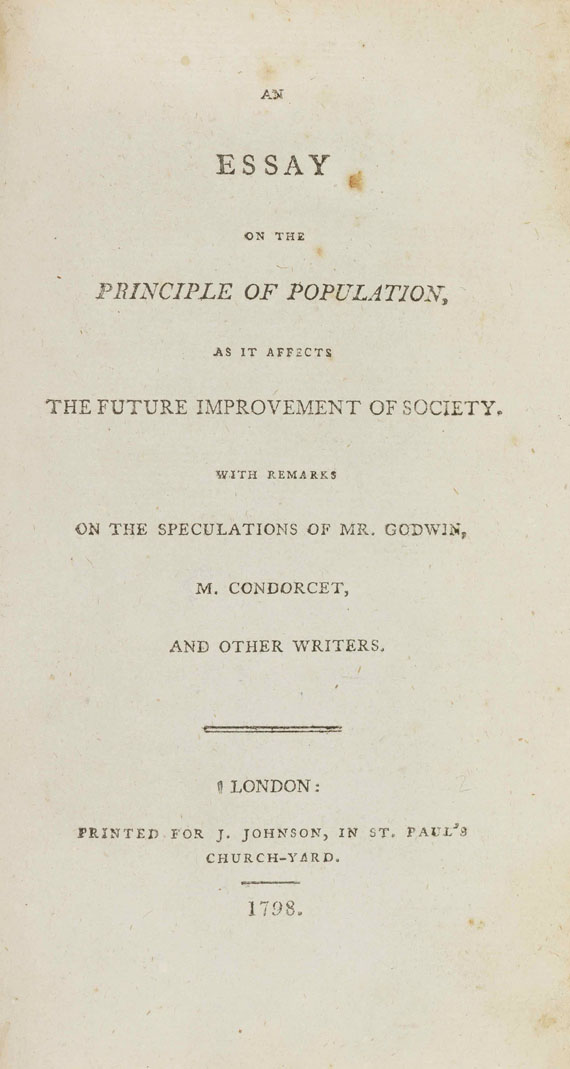 Malthus - An Essay on the Principle of Population